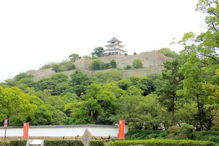 丸亀城、亀山、石垣