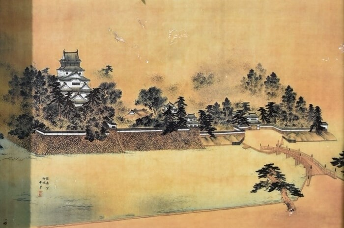 柳川城、案内板、天守閣、石垣