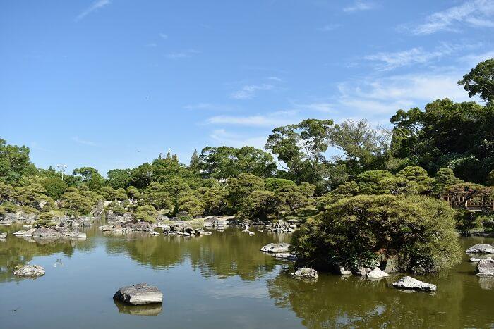 松濤園、大広間、立花家邸宅、御花、庭園