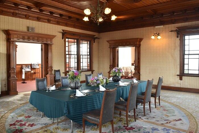 立花家邸宅、御花、西洋館、食卓