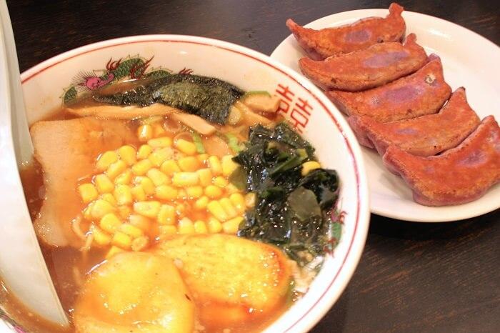 川越ラーメン、紫いも餃子、餃子菜館、大八