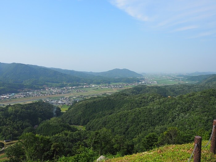月山富田城、山頂、日本海
