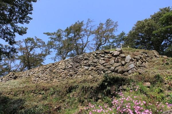 鳥取城、山上ノ丸、本丸、石垣、野面積み