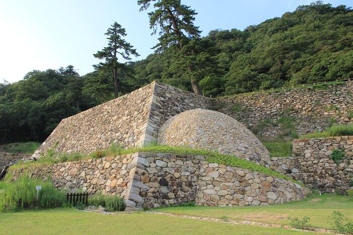 鳥取城、巻石垣、遺構、