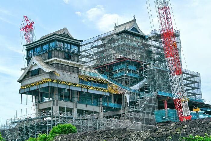 熊本城、天守、修復工事