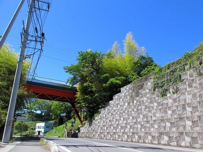 磐城平城、外堀跡、崖