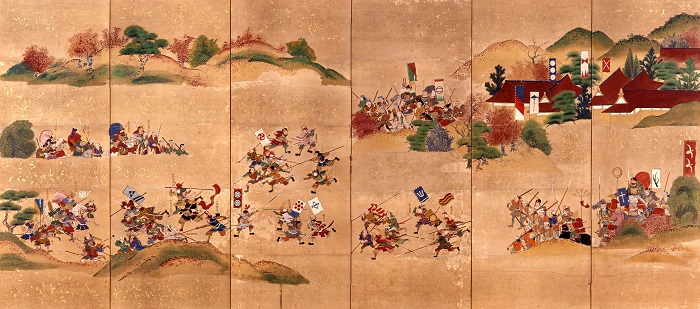 関ヶ原の戦い、長谷堂合戦図屏風