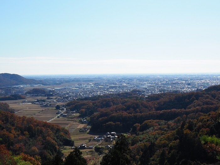 唐沢山城、関東平野