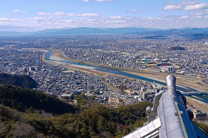 岐阜城、山頂部、景観