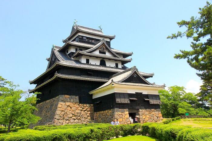 松江城、天守、石打棚、井戸、