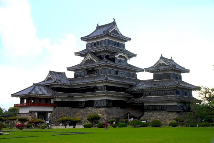 松本城、大天守、乾小天守、連結複合式、辰巳櫓、月見櫓