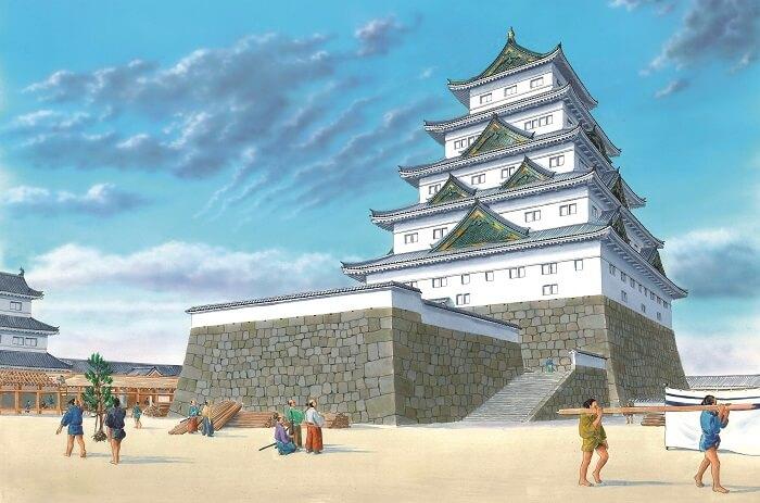 徳川秀忠、復元イラスト、大坂城