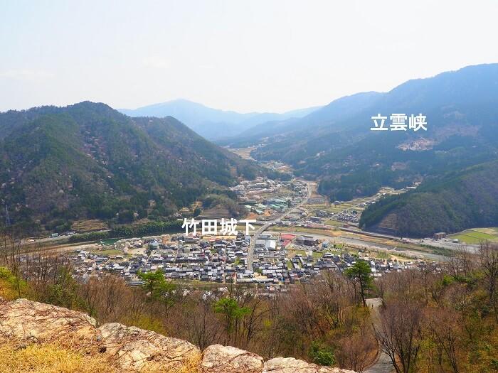 竹田城、二の丸、立雲峡