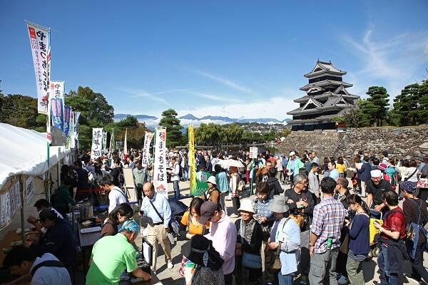 第15回 信州・松本そば祭り、松本城