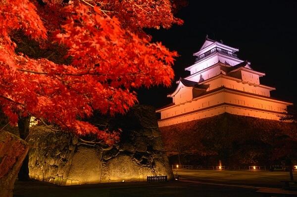 会津若松城、紅葉