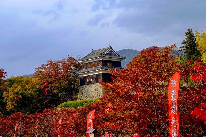 上田城、紅葉、尼ヶ淵方面