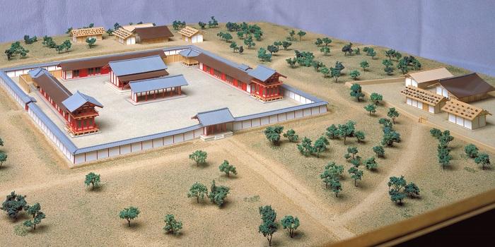 伯耆国庁復元模型