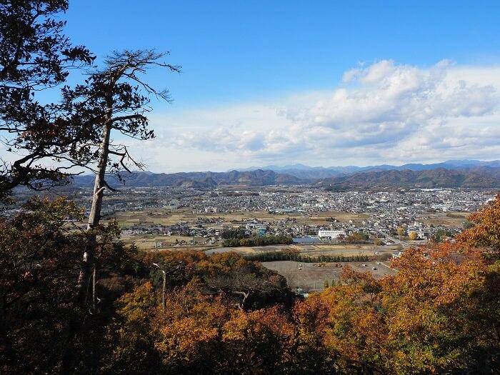 唐沢山城、眺望、栃木県