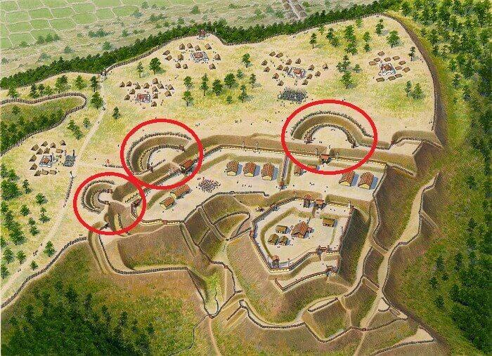 諏訪原城、二の丸、丸馬出、虎口