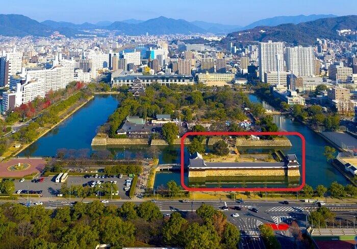 広島城、二の丸