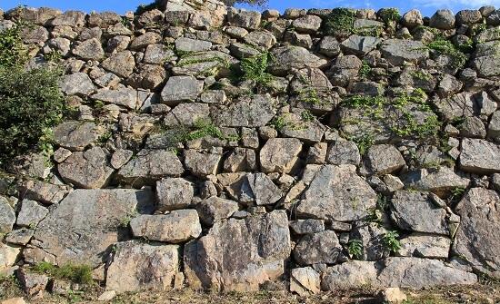 竹田城、野面積石垣、