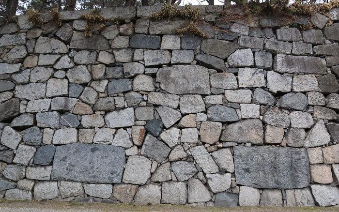 名古屋城、打込接、石垣、