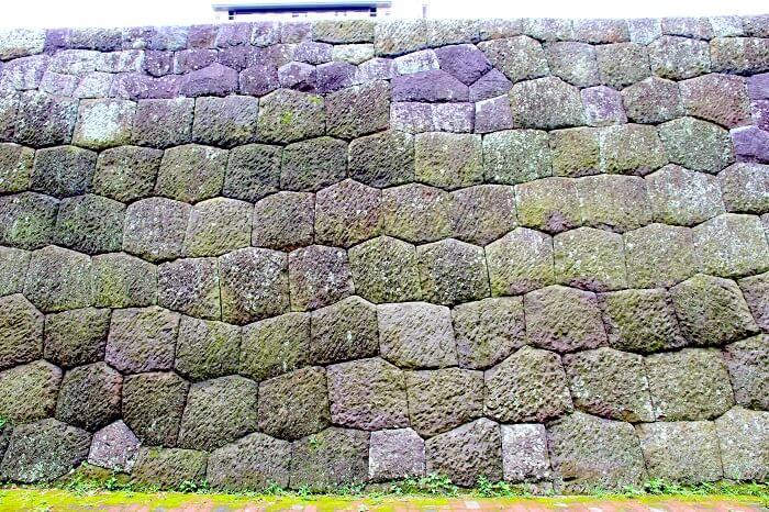 駿府城、大手門、石垣、亀甲積
