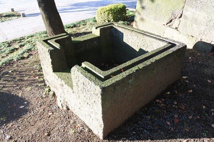 和田倉門渡櫓西側、江戸城、西の丸下曲輪、大名小路曲輪、分水石枡