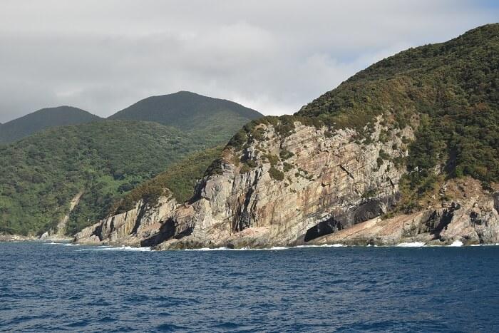 上甑島、フェリー、断崖、下甑島