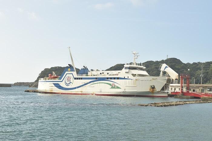 フェリーニューこしき、長浜港、串木野港、甑島