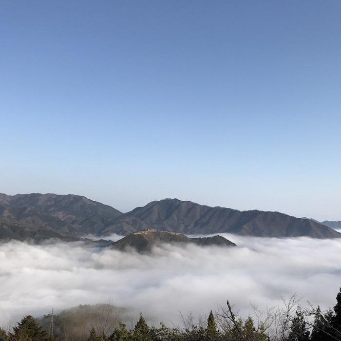 竹田城、雲海