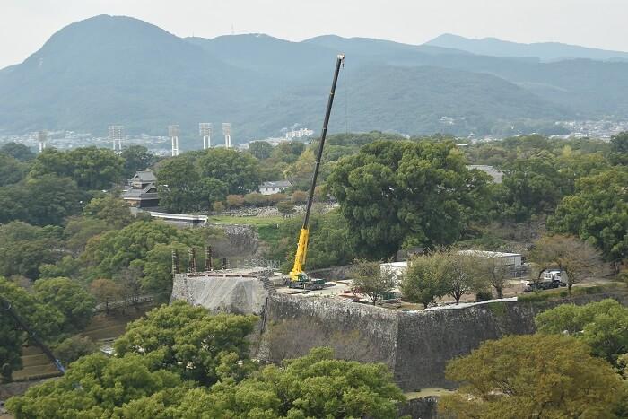 熊本城、解体、飯田丸五階櫓、石垣