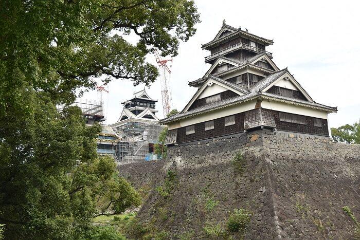 熊本城、宇土櫓、石垣