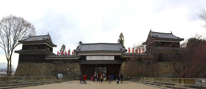 上田城、南櫓、東虎口櫓門、北櫓