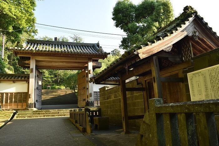 延岡城、北大手門、復元、供養塔、内藤家墓碑