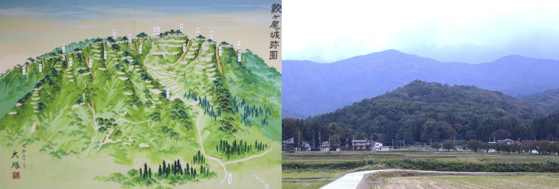 大塚直吉、鮫ヶ尾城、鳥瞰図