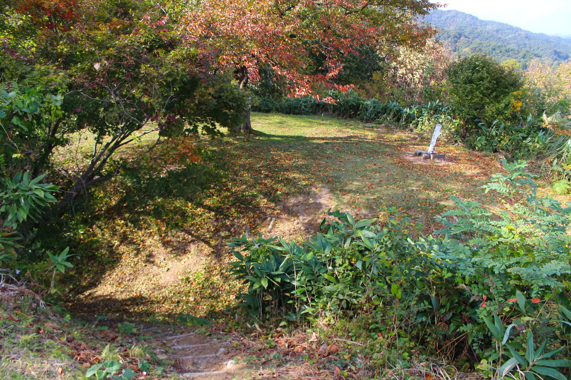 鮫ヶ尾城、米倉跡、曲輪