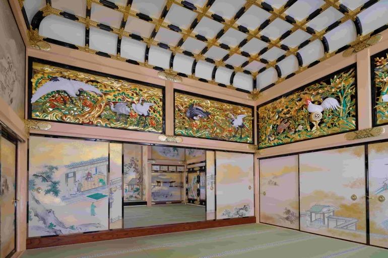 名古屋城、本丸御殿、障壁画、復元模写、上洛殿一之間北東面