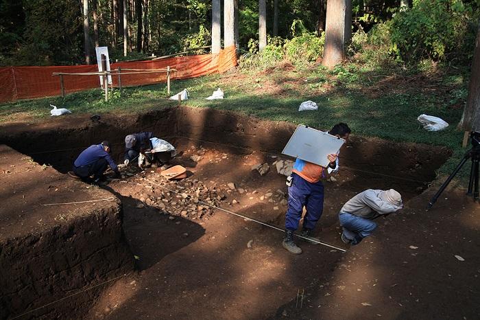 津久井城、発掘調査