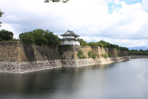 大阪城、南外堀、石垣