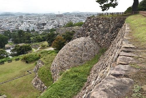 鳥取城、天球丸、巻石垣