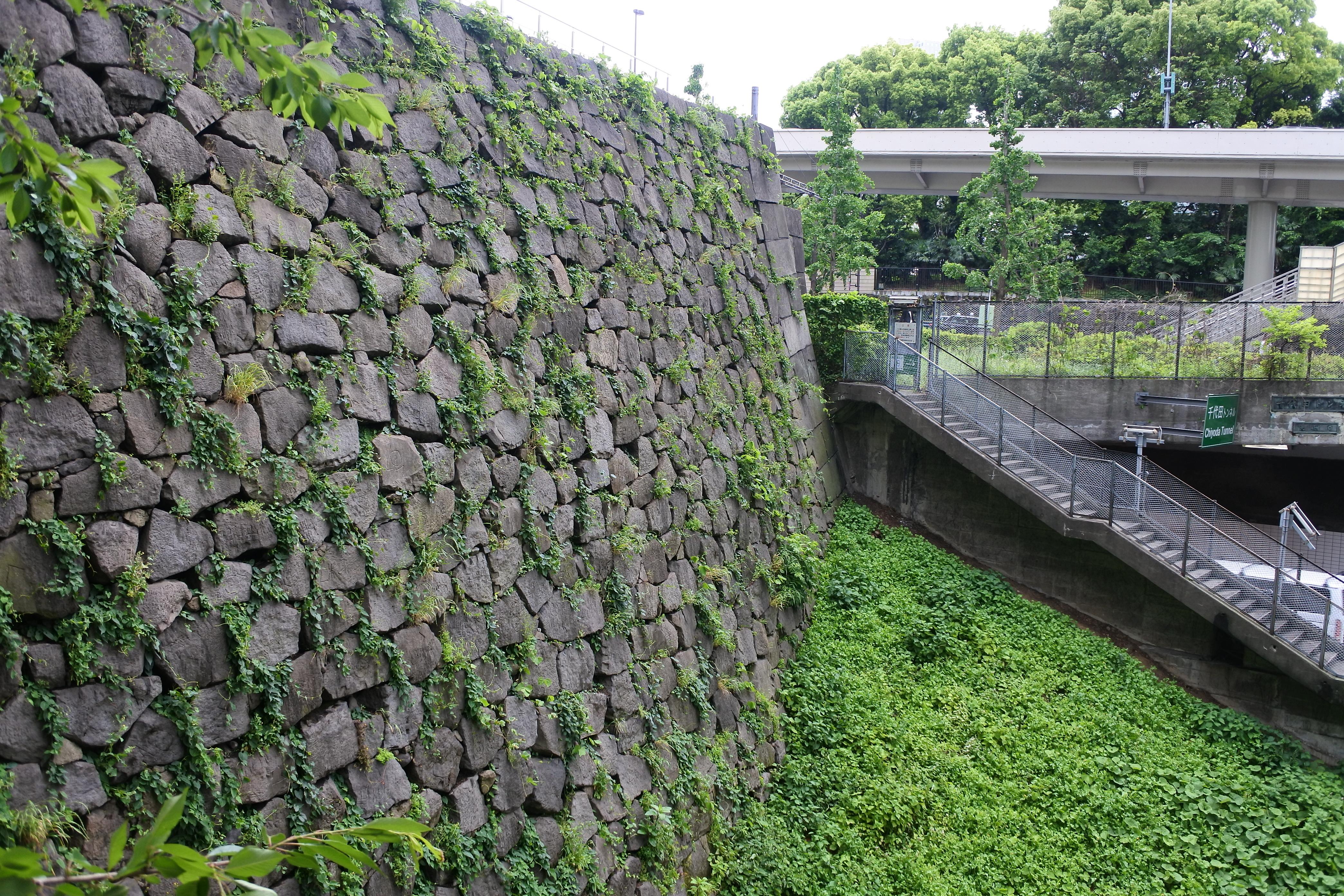 江戸城、赤坂御門の石垣