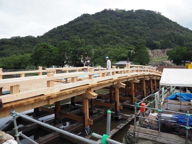 擬宝珠橋、鳥取城