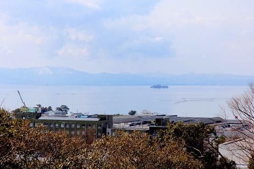 琵琶湖、お城
