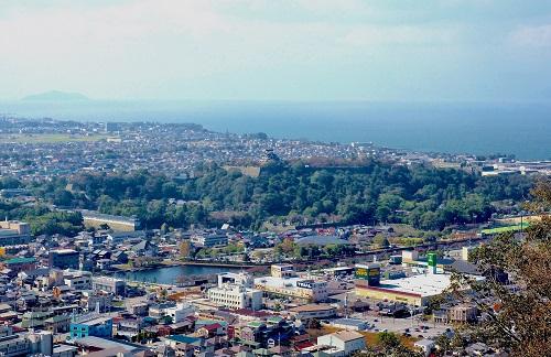 彦根城、琵琶湖