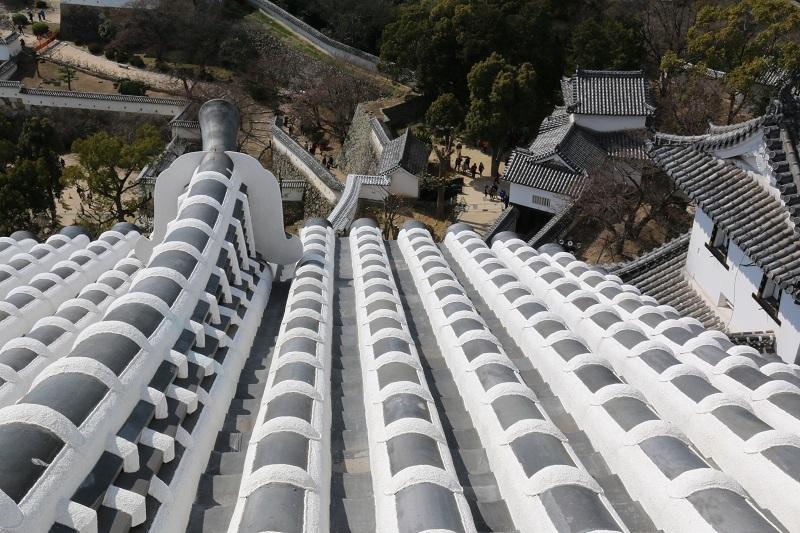 白漆喰総塗籠、姫路城