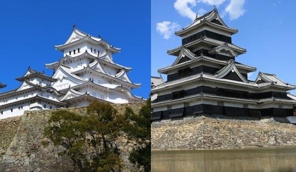 天守、色、松本城、姫路城