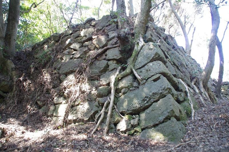 東の丸二段の郭、石垣