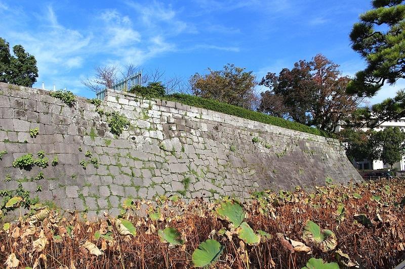 鹿児島城、石垣