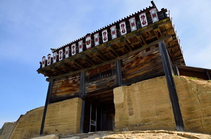 鬼ノ城、城門